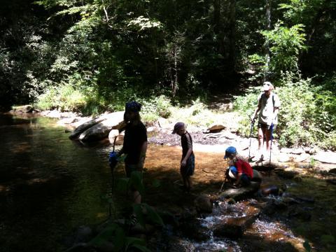 A creek crossing.