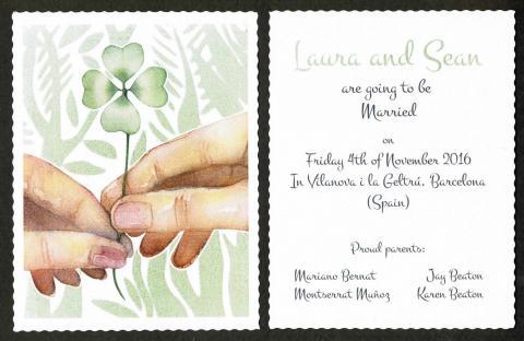 Sean-Laura wedding announcement